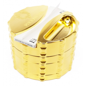 ELITE SERIES - Large 4pc Grinder - 24 Karat Gold Plated with Paper Holder