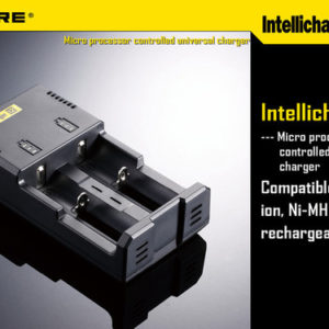 NITECORE INTELLICHARGER I2 TWO BAY BATTERY CHARGER ACCESSORY