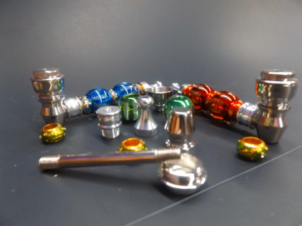 11 Piece Metal Hand Pipe 3