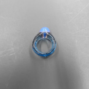 Blue Hand Blown Ring 1