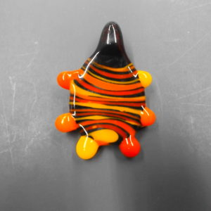 Warm Colors Hand Blown Necklace Pendant