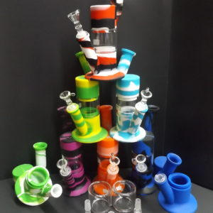 Glass Chamber Silicone Water Pipe